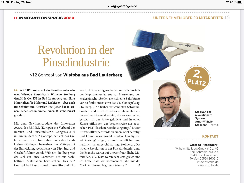 Revolution in der Pinselindustrie V12 Concept
