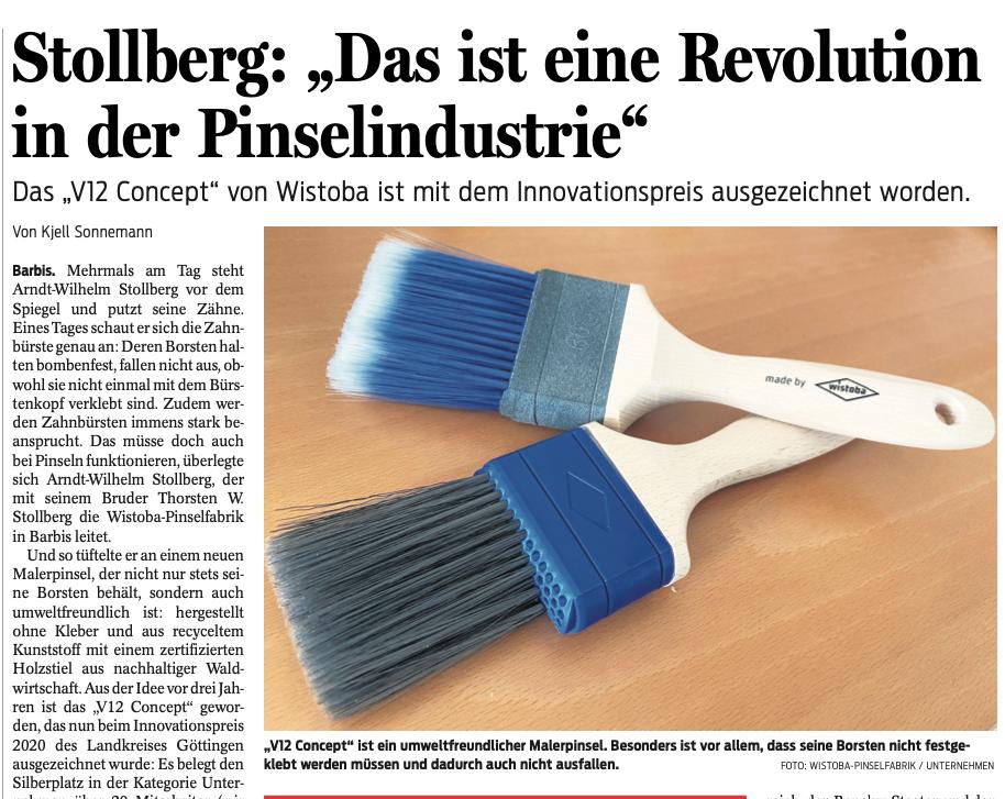 Wistoba V12 Concept Revolution in der Pinselindustrie